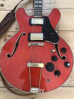 Vintage Antoria 1970s made in Japan semi acoustic guitar