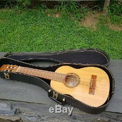 Vintage Giannini MPB Acoustic Guitar Made in Brazil with Case