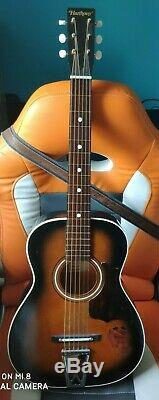 Vintage Harmony Stella Acoustic Guitar with Orginal Case, Made in USA