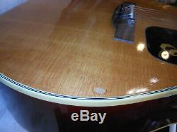 Vintage Jumbo ARIA Acoustic Guitar Made In JAPAN beautiful rare Spruce Top