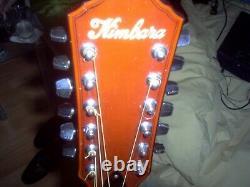 Vintage Kimbara 12 String Electro-acoustic Guitar 1970s Japanese Made