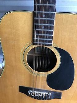 Vintage PENCO 12 String Acoustic Guitar Made In Japan Great Working Condition