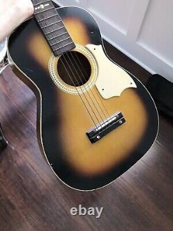 Vintage Silvertone Model 319 Parlor Acoustic Guitar Tobacco Sunburst USA Made