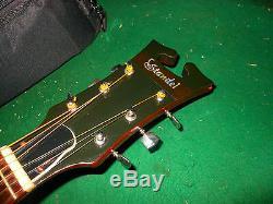 Vintage Standel / Harptone Acoustic Guitar Rare Made In USA Carved Round Back