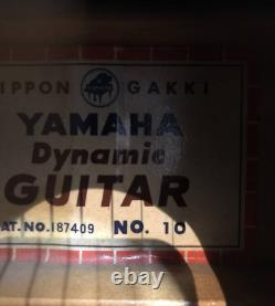 Vintage Yamaha Dynamic No. 10 Sunburst Acoustic Guitar Made in Japan