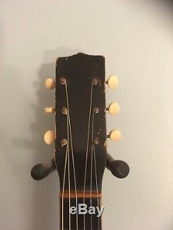 Vintage noname parlor acoustic guitar 1950's Early 1960s (United Made) USA
