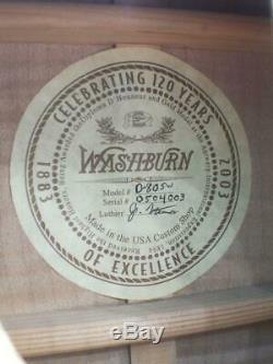 Washburn D-80SW Made in USA Custom Shiop celebrating 120 years