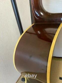 YAMAHA FG-152 Acoustic Guitar Made in Japan Vintage Orange Label Good Sounds QQ