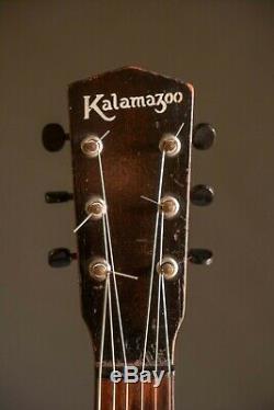 1933 Kalamazoo Kg-11 Vintage Guitare Acoustique Faite Par Gibson