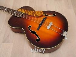 1940s Regal Vintage Archtop Acoustic Guitar, Spruce & Mahogany, Usa-made With Case