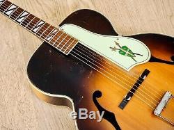 1950 Silvertone Modèle 670 Vintage Kay-made USA Archtop Guitare Acoustique Avec Étui