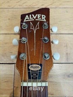 1959 Alver Faite Par La Guitare Maton, Avec Hardcase Originales, Des Pièces Et Des Sons Grands