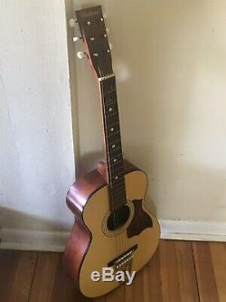 1960 Vintage Stella Harmony Parlor Guitare Acoustique H6128 USA Made