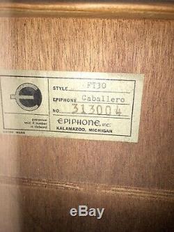 1965 Epiphone Caballero Ft-30 Original Fabriqué À Kalamazoo, Michigan, USA Vintage