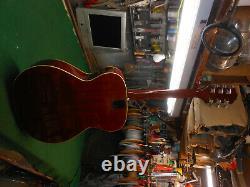 1970 Epiphone Ft-180sb Cabellero Guitare Acoustique Blue Label Japan Made