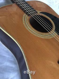 1970 Vintage Kiso Suzuki 965 Guitare Acoustique Made In Japan