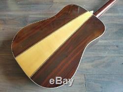 1972 Morris W-40 Acoustic Guitare (made In Japan)