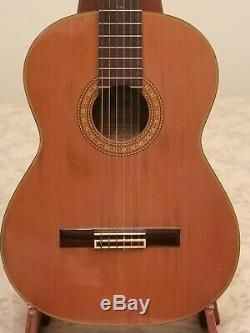 1980 Takamine C-132s Guitare Classique Faite Au Japon Utilisé Hard Case Bonne Cond
