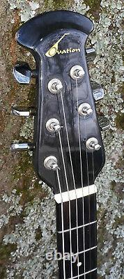 1982 Ovation Model 1111 USA Made Acoustic Guitar Play's, Top Crack, U-fix-it