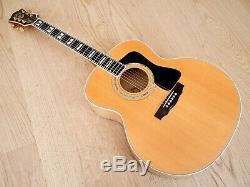 1990 Guild Jf65 Jumbo Acoustic Guitar Figured Maple Usa-made Westerly Avec Étui