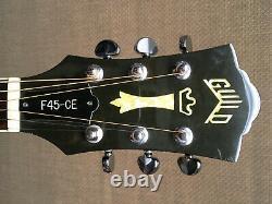 1990 Guild Westerly F45-ce Sunburst Cutaway USA Guitare Électrique Acoustique