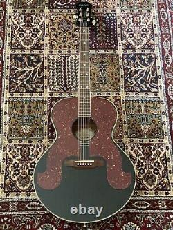 1999 Epiphone Coréenne Made Sq-180 Don Everly Modèle Noir Guitare Acoustique
