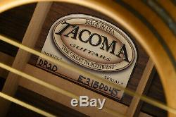 2001 Tacoma Dr20 Palissandre Indien Massif Et Solide Guitare Acoustique Spruce Us Made