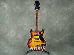 60s 70s Vintage Teisco Audition Semi Acoustic Guitar Sunburst Made In Japan