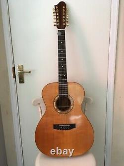 A Gauche, Guitare À 12 Cordes. Fait À La Main. Acajou Cubain Dos, Côtés Et Cou