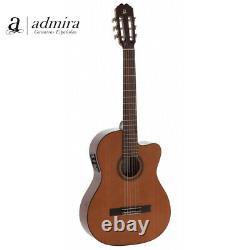 Admira Malaga Ecf Cutaway Acoustic Electric Classical Nylon Guitar Made In Espagne