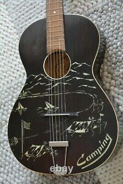 Alte Gitarre Guitar Framus Schlaggitarre Archtop Fabriqué En Allemagne