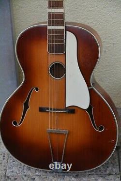 Alte Gitarre Guitar Meinel Und Herold Fabriqué En Allemagne