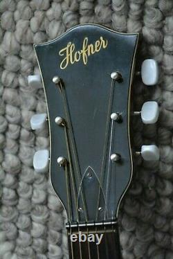 Alte Gitarre Guitare Höfner Hofner Archtop Jazz Schlaggitarre Made In Germany
