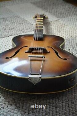 Alte Gitarre Guitare Höfner Hofner Schlaggitarre Archtop Made In Germany