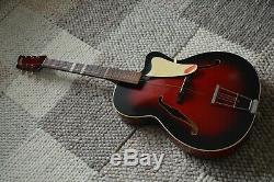 Alte Gitarre Guitare Jazz Made In Germany Archtop Schlaggitarre