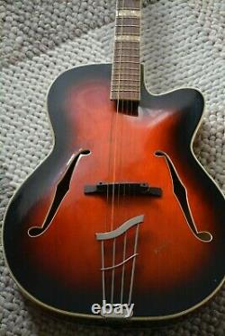 Alte Gitarre Guitare Kreibich Archtop Made In Germany