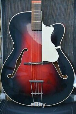 Alte Guitare Gitarre Jazz Arhtop Par Hanika Made In Germany