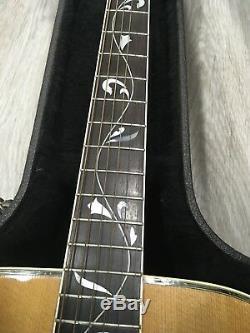 Alvarez Guitare Acoustique Tree Of Life Modèle Fabriqué Au Japon 1970 Excellente Withcase