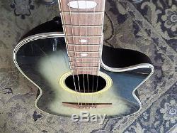 Applaudissements Par Kaman Ae-38 Guitare Électrique Acoustique Greenburst Fini Fait En Corée