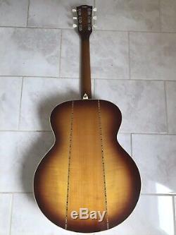 Arbiter J130 Jumbo Guitare Acoustique Début Des Années 70 C / W Cas Made In Japan