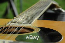 Aria 9214 12 Cordes Guitare Acoustique Mij 1980 Vintage Hand Made Au Japon