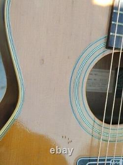 Aria Inc Vintage Acoustic Guitar Model 9602 Main Droite Made In Japan Punk
