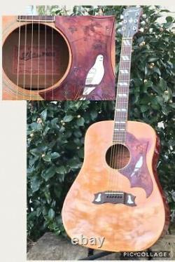 Aria Pro II Custom Wd-35 Dove Model Aria Matsumoku Acoustic Guitar Made In Japan