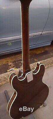 Aria Ta 30 Semi-acoustique Guitare Made In Japan Pas Pickgaurd Hard Case Epiphone