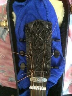 Blueberry Human Celtic Design Main Fait Guitare Acoustique