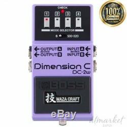 Boss Dimension C Dc-2w Waza Art Technique Effets Basses Violet Fabriqué Au Japon