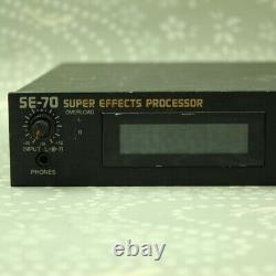 Boss Pro Se-70 Processeur Super Effets Avec Adaptateur Ac Made In Japan Effect Unit
