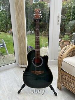 Clarissa Electro Acoustic Guitar (ovation Style Bowl Back) Fabriqué En Italie Vers 1991