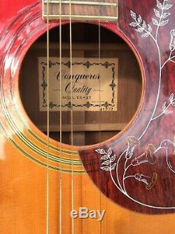 Conquérant Guitar Modèle Qualité Cs- 27 41272 Fabriqué Au Japon. Avec Cas