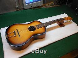 Egmond Vintage Made In Holland Stadium Salon Guitare Acoustique Joue Une Action De Nice
